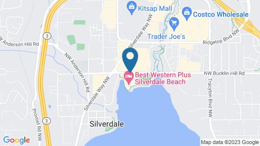 Best Western Plus Silverdale Beach Hotel Map