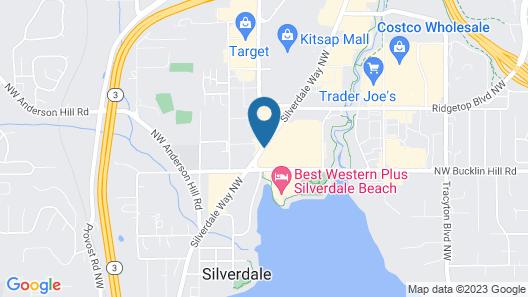 Quality Inn & Suites Silverdale Bangor-Keyport Map