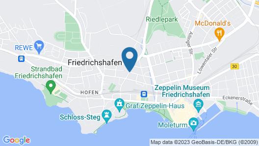 Central Hotel Friedrichshafen Map