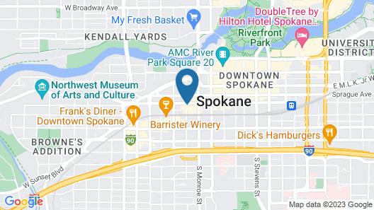 Hotel Indigo Spokane Downtown, an IHG Hotel Map