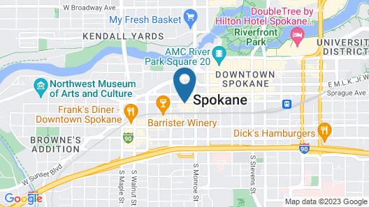 Hotel Indigo Spokane, an IHG Hotel Map