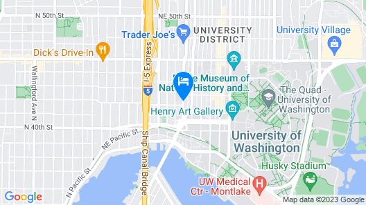 Staypineapple, University Inn, University District Seattle Map