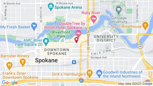 DoubleTree by Hilton Spokane City Center Map