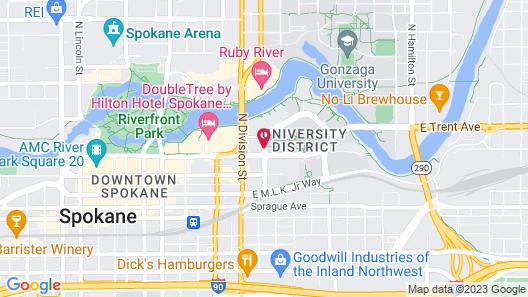 Fairfield Inn & Suites Spokane Downtown Map