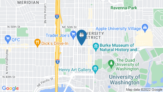 Residence Inn by Marriott Seattle University District Map