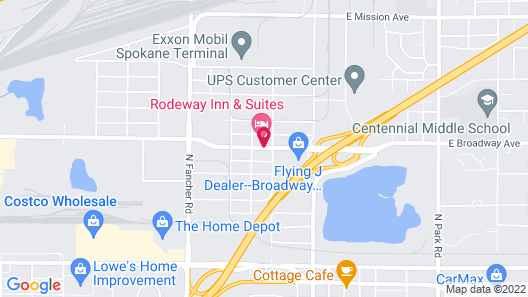 Rodeway Inn & Suites Spokane Valley Map