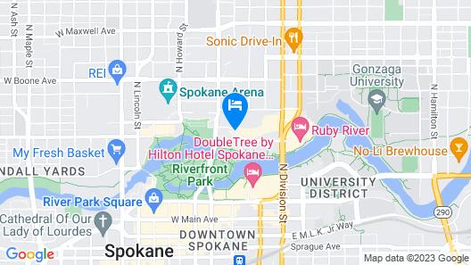 Centennial Hotel Spokane Map