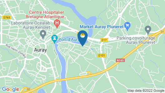 Apartment With 2 Bedrooms in Saint Goustan Auray, With Terrace - 15 km From the Beach Map