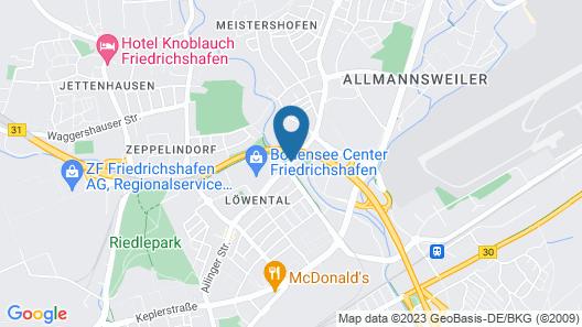 Comfort Hotel Friedrichshafen Map