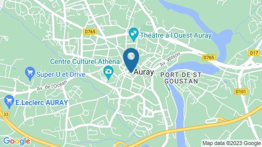 Hôtel le Cadoudal Map