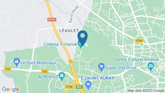 Hotel Kyriad Auray - Carnac Map