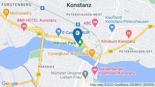 HARBR. hotel Konstanz Map