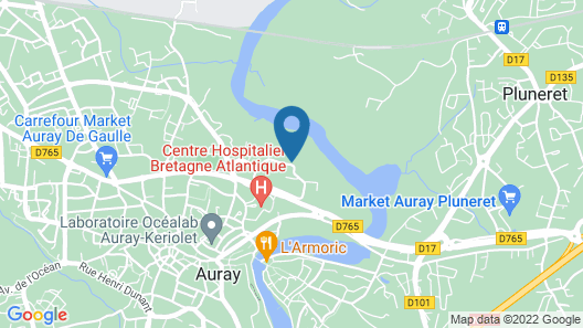 Best Western Auray Le Loch Map