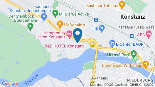 B&B Hotel Konstanz Map