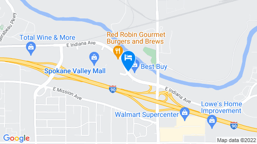 Oxford Suites Spokane Valley Map