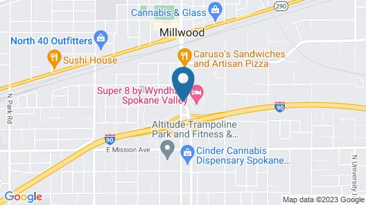 Super 8 by Wyndham Spokane Valley Map