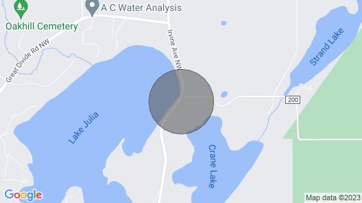 2 Bedroom 2 Bath Lake Home Near Ski Lodge and Snowmobile Trails! Fishing Dock Map