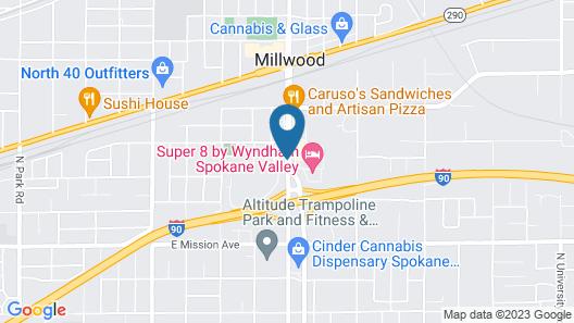 SilverStone Inn & Suites Spokane Valley Map