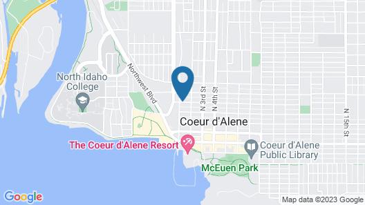 The Roosevelt Inn & Spa Map