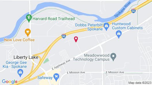 Quality Inn & Suites Liberty Lake - Spokane Valley Map