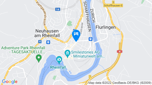 Hotel Rheinfall Map