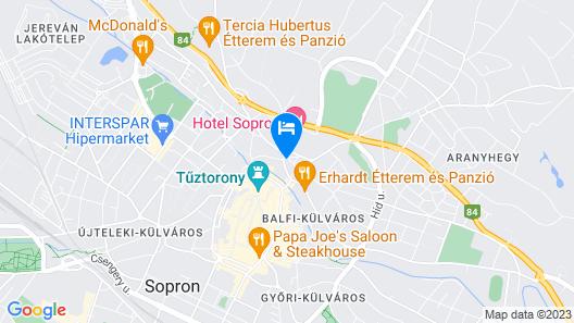 Jégverem Fogadó Map