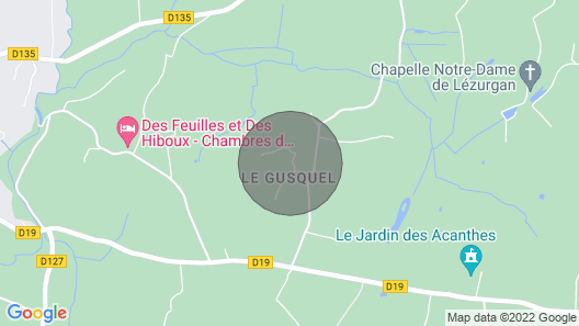 Cottage 6 people with swimming pool at the gates of Vannes - Le Clos du Gusquel Map