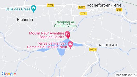 Terres de France - Domaine du Moulin Neuf Map