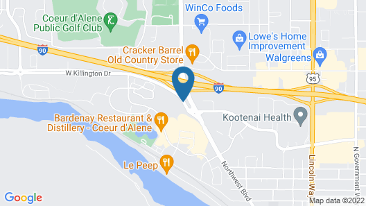 SpringHill Suites by Marriott Coeur d'Alene Map