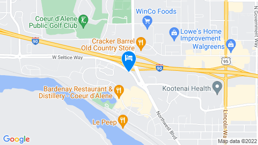 Holiday Inn Express & Suites Interstate 90, an IHG Hotel Map