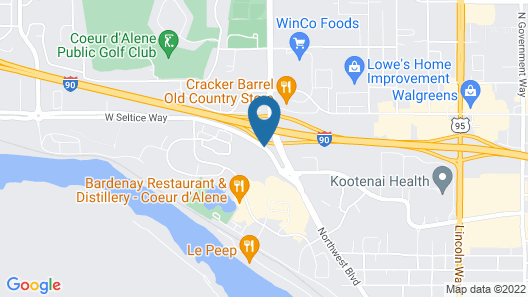 Holiday Inn Express & Suites Interstate 90 Map