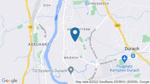 Allgäutraum Apartment No. 4 for 2-6 People in Durach-weidach Map