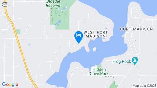 Bainbridge Island Beach and Dock by RedAwning Map