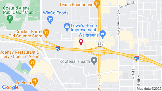 Comfort Inn & Suites I-90 City Center Map