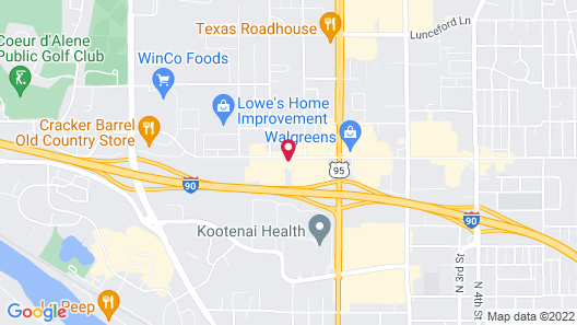 Motel 6 Coeur D'Alene, ID Map