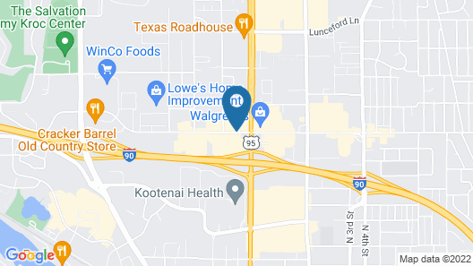 Super 8 by Wyndham Coeur d'Alene Map