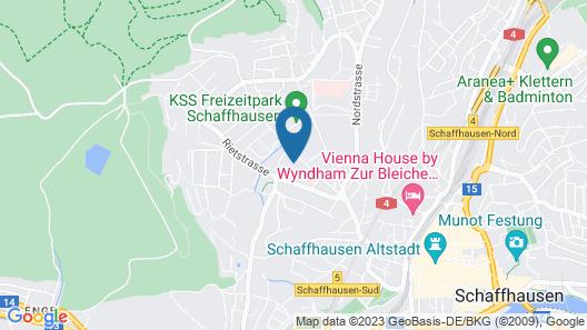 Youth Hostel Schaffhausen Map
