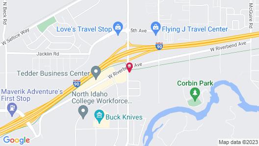 Sleep Inn near Washington State Line Map
