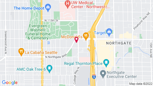 Courtyard by Marriott Seattle Northgate Map