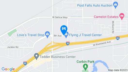 SureStay Plus Hotel by Best Western Post Falls Map