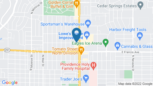 Rodeway Inn North Spokane Map