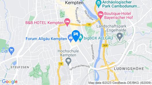 bigBOX ALLGÄU Hotel Map