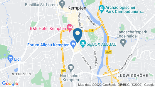 CityHotel Kempten Map