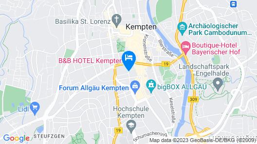 B&B Hotel Kempten Map