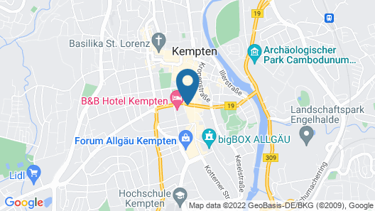 Parkhotel Kempten Map