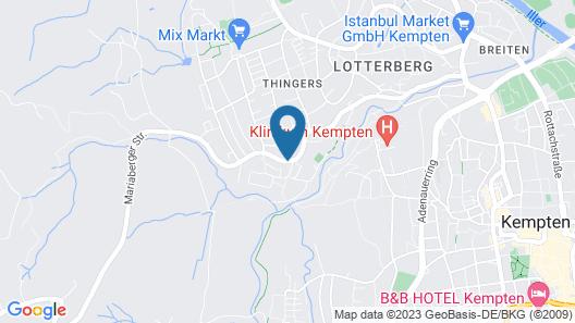 Hotel Sonnenhang Kempten Map