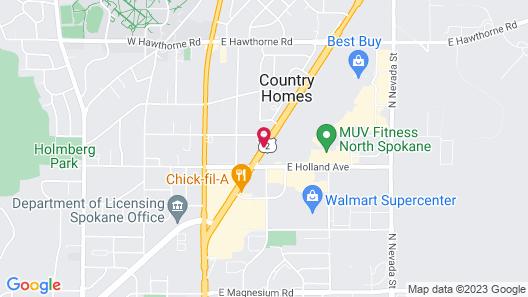 Best Western Plus Spokane North Map