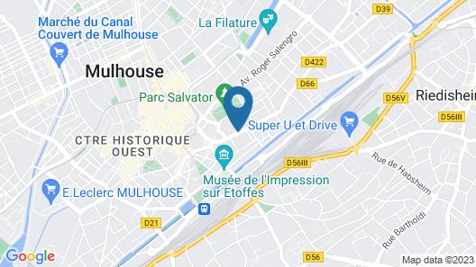 Brit Hotel Confort Mulhouse Centre Map