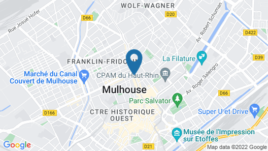 B&B Hotel Mulhouse Centre Map