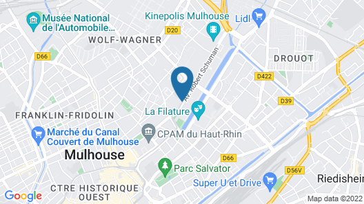 Appart'City Mulhouse Map